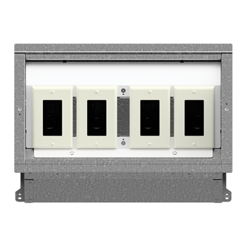 FL-400 Floor Box 1-1-1-1 Configuration