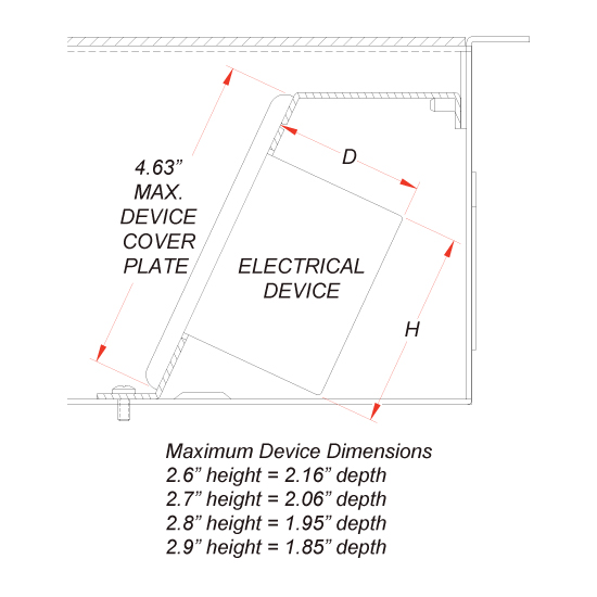 FL-400 Maximum Device Dimensions