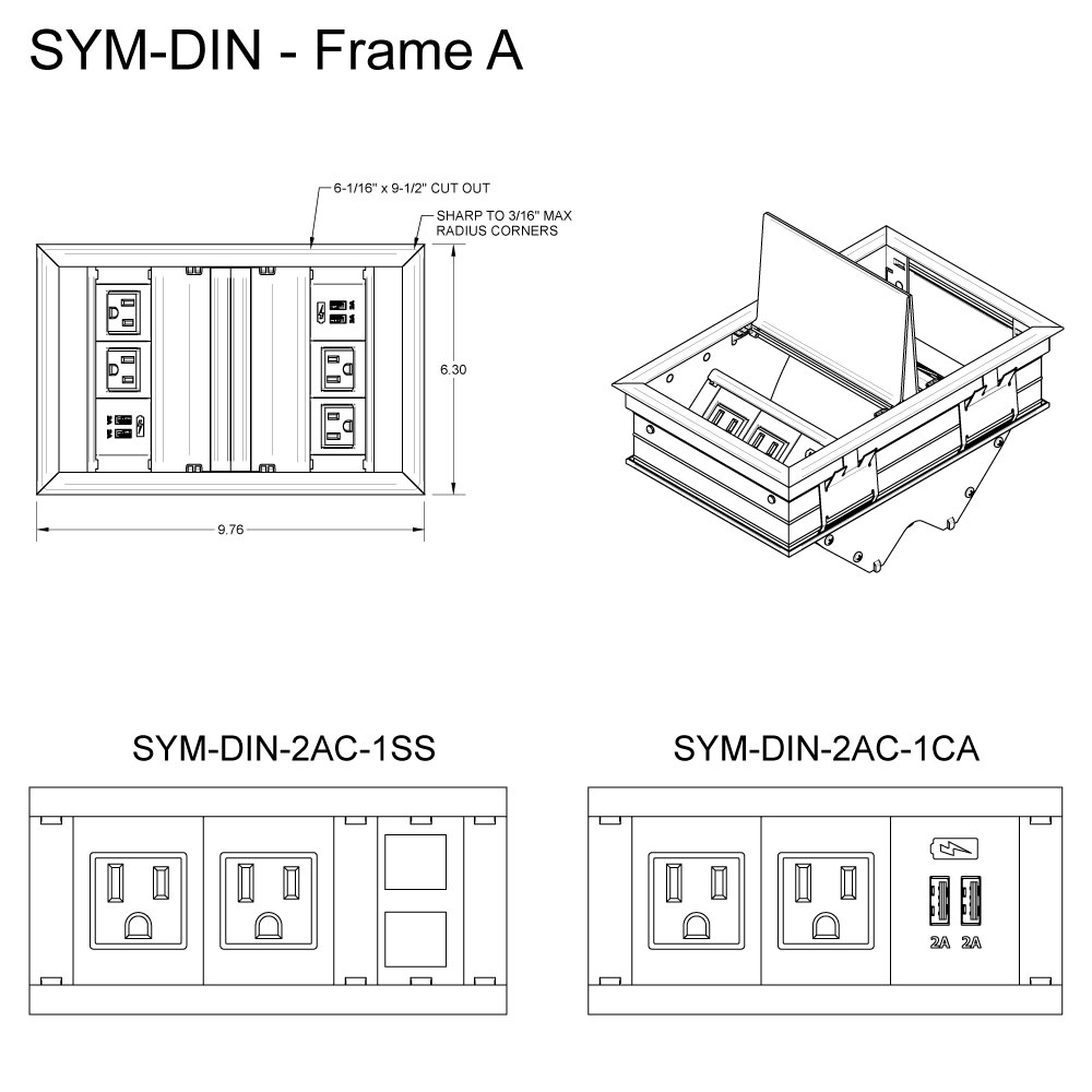 SYM DIN Frame A Template