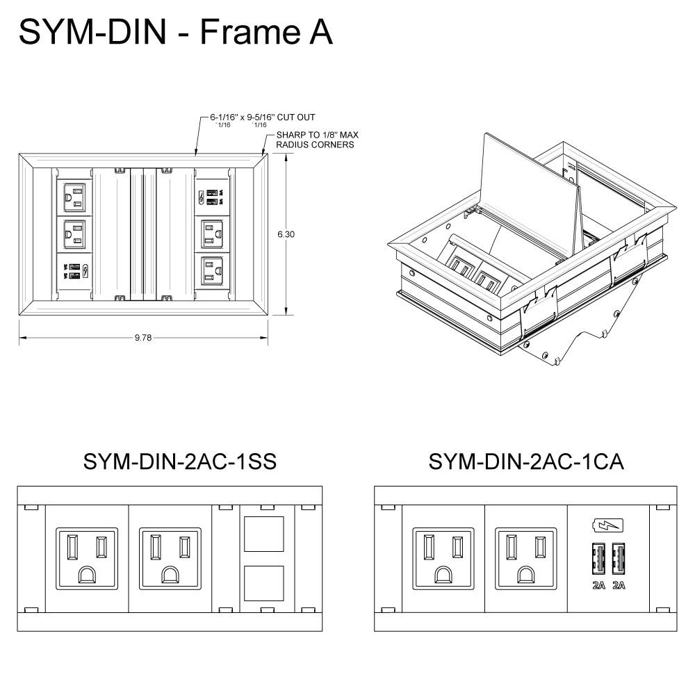SYM DIN Frame A