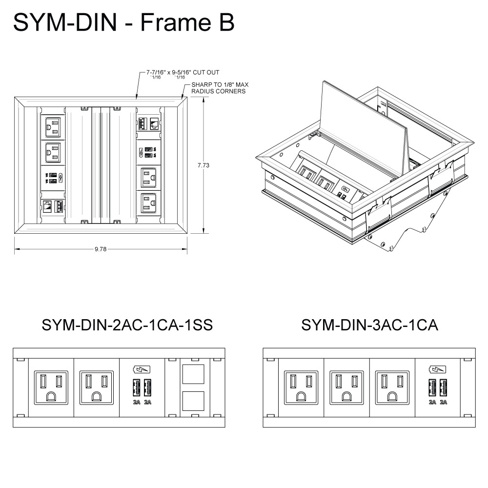 SYM DIN Frame B