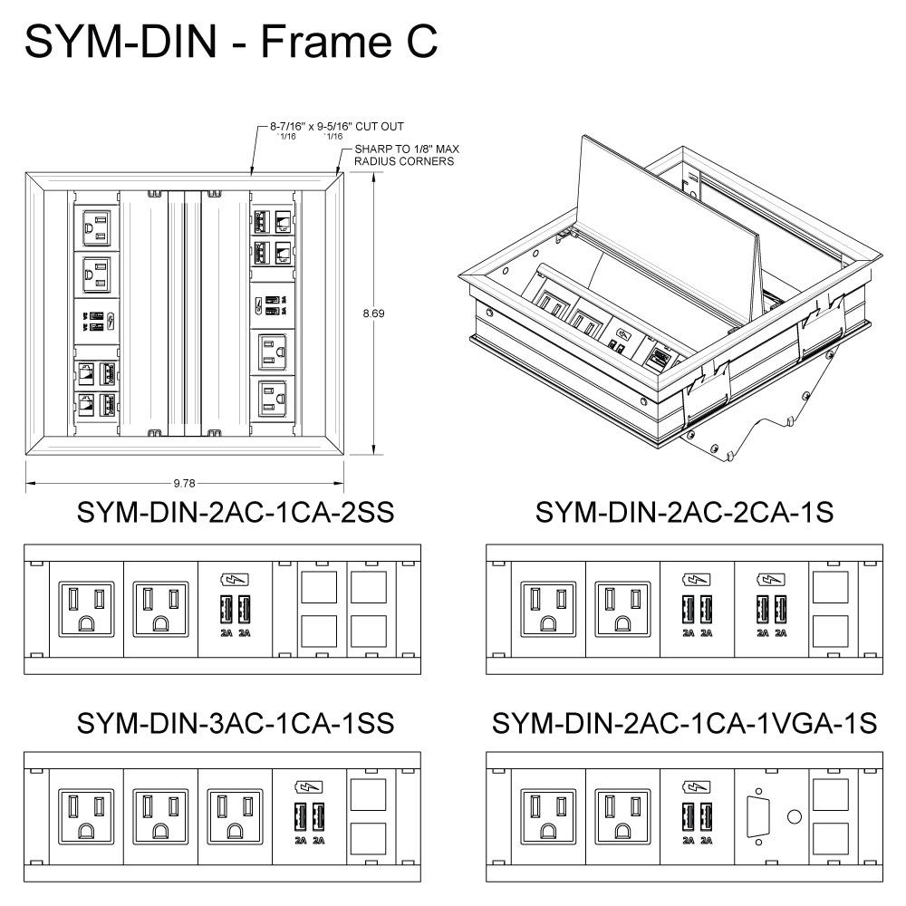 SYM DIN Frame C