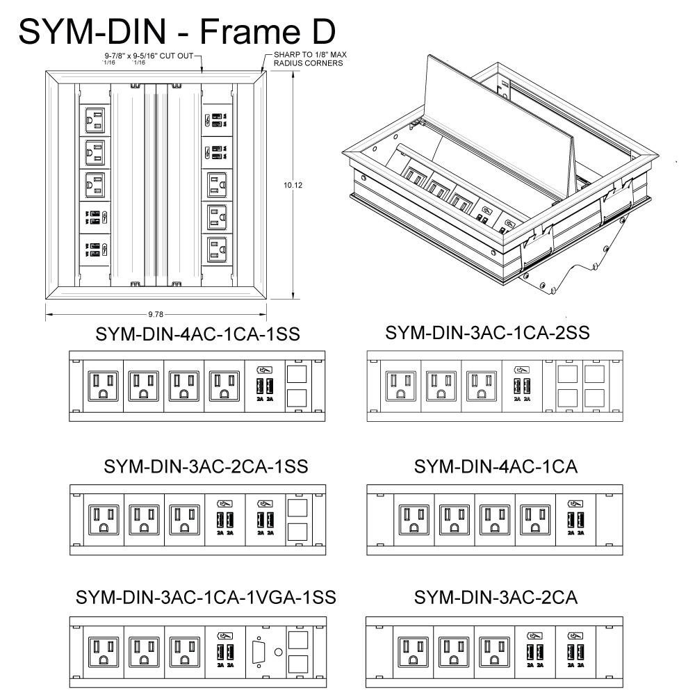 SYM DIN Frame D