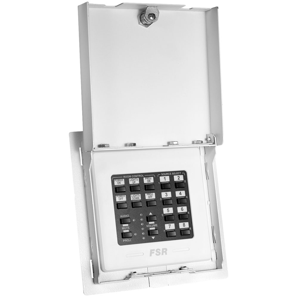 flush mount locking wall plate cover