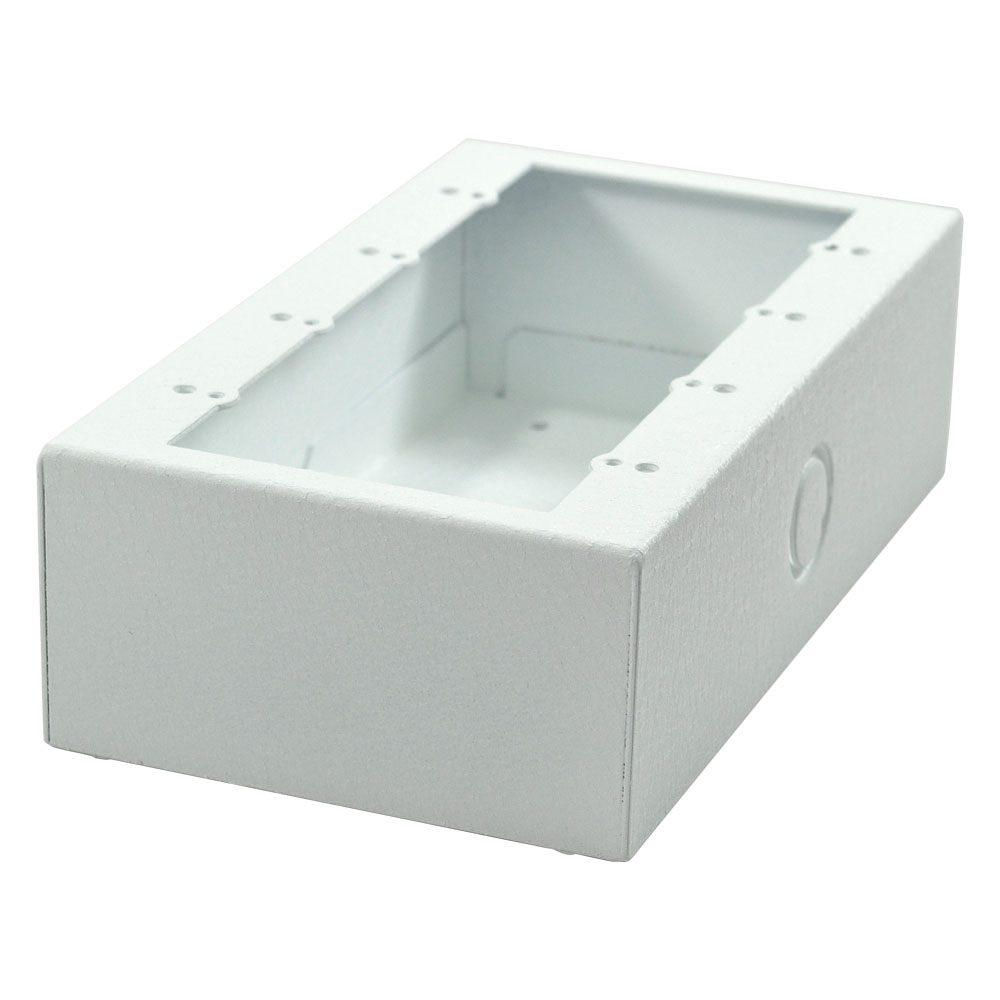 Surface Mount Wall Boxes House Wiring Two Gang Switch Box Smwb 4g Wht 4 White