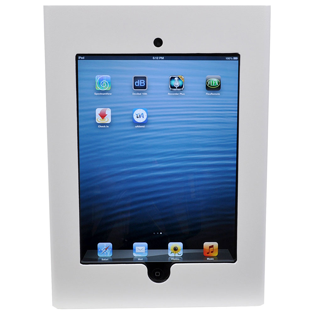 we ipd2 wht white ipad 2 enclosure mounts on 2 gang electrical box we ipd2 wht back
