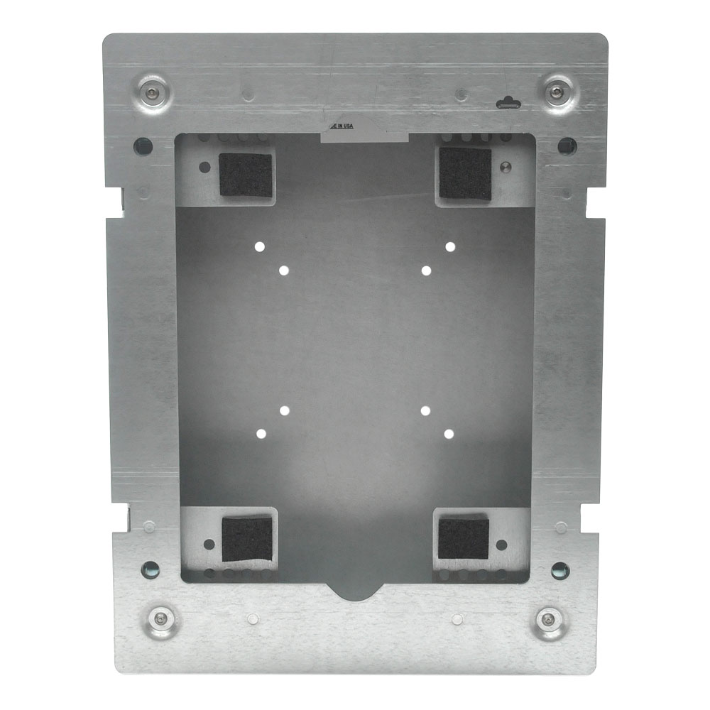 Flush mount ipad wall enclosure for Flush with the wall