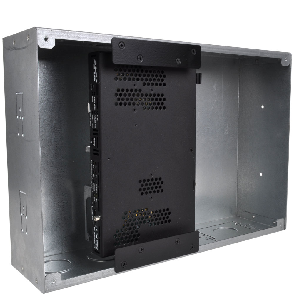Flat Panel Wall Box For Use With Amx