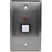 rsp-1gpb- 1 gang, push button wall plate for the sp power sequencers