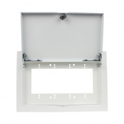 wb-mr4g- recessed 4 gang mounting plate w/ metal cover