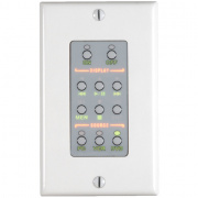 rn-wpcs- white wall plate control system w/ 2 ir and 1 serial port
