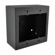 smwb-2g-blk- 2 gang surface mount gang box - black