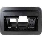 t3u-2r-blk- table box ac duplex black cover and trim