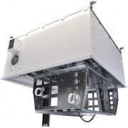 cb-224p- 2'x2' ceiling box w/ 4 1ru mounts, 6 ac outlets and proj. pole adapter