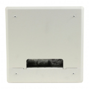 pwb-200-wht- project wall box w/ 6 ips and 2 ac / gang, standard wall - white
