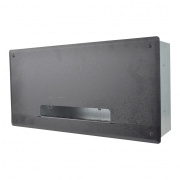 pwb-250-blk- project wall box w/ 6 ips and 3 ac / gang, 2 ko - black