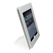 tm-ipmininb-trs-wht- white ipad mini table top mnt, no button, tilt/rotate/swivel