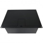 fl-1550-blk- black 4 gang stage floor box