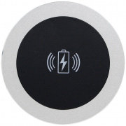 black table coaster with qi wireless charging