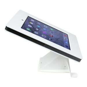 tm-ipdnb-tr-wht- white ipad table top mnt, no button, tilt/rotate