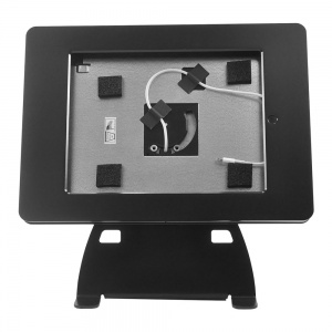 tm-ipdnb-tr-l- black ipad table top mnt, no button, tilt/rotate w/ lightning conn