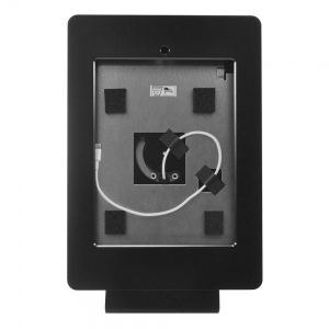 tm-ipdnb-trs-l-blk- black ipad table top mnt, no button, tilt/rotate/swivel w/ lightning conn