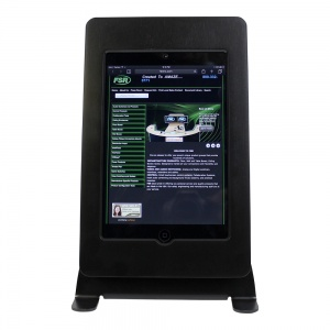 tm-ipmini-tr-blk- black ipad mini table top mnt, tilt/rotate