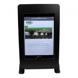 tm-ipmininb-tr-blk- black ipad mini table top mnt, no button, tilt/rotate