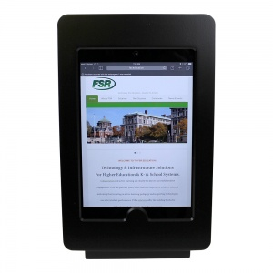 tm-ipmininb-trs-blk- black ipad mini table top mnt, no button, tilt/rotate/swivel