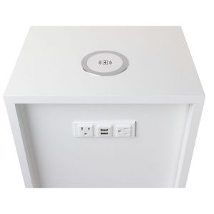 "22""x13"" white box w/ac, usb and qi charger"