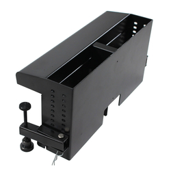 rt6-cl2-blk- black table box with 2 large brackets, or hold 4 tbrt retractors, ac & usb chargers