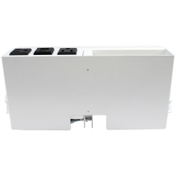 rt6-cl2-wht- white table box with 2 large brackets, or hold 4 tbrt retractors, ac & usb chargers