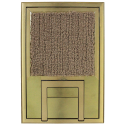 "fl-200-blp- scrub water cover – 1/4"" beveled brass edging"