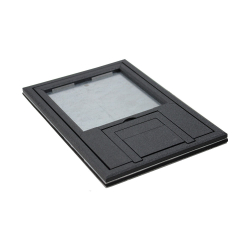 "fl-200-plp-blk-c- 1/4"" black edging with u-access"