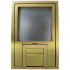 "fl-200-b-c- 1/2"" brass trim with u-access"